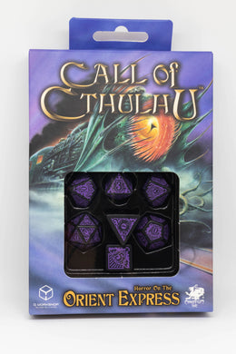 Call of Cthulhu, Horror on the Orient Express, 7 dice polyhedral set