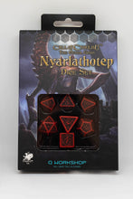 Load image into Gallery viewer, Call of Cthuhlu Nyarlathotep dice set, 7 dice polyhedral set