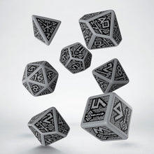 Load image into Gallery viewer, Dwarven Dice - Dark Grey, 7 dice polyhedral set