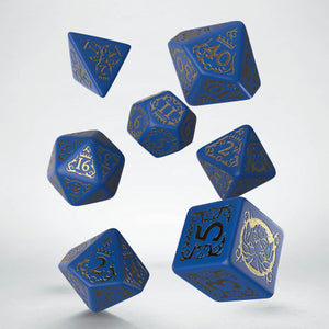 Pathfinder War for the Crown, Blue and Gold 7 dice polyhedral set