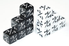 Load image into Gallery viewer, 12pcs Positive/Negative Dice Counters for Magic The Gathering (6pcs white 6pcs black)