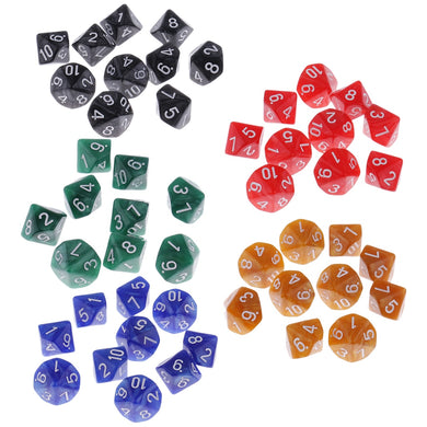 10 x D10 booster pack, pearlised, multiple colours.