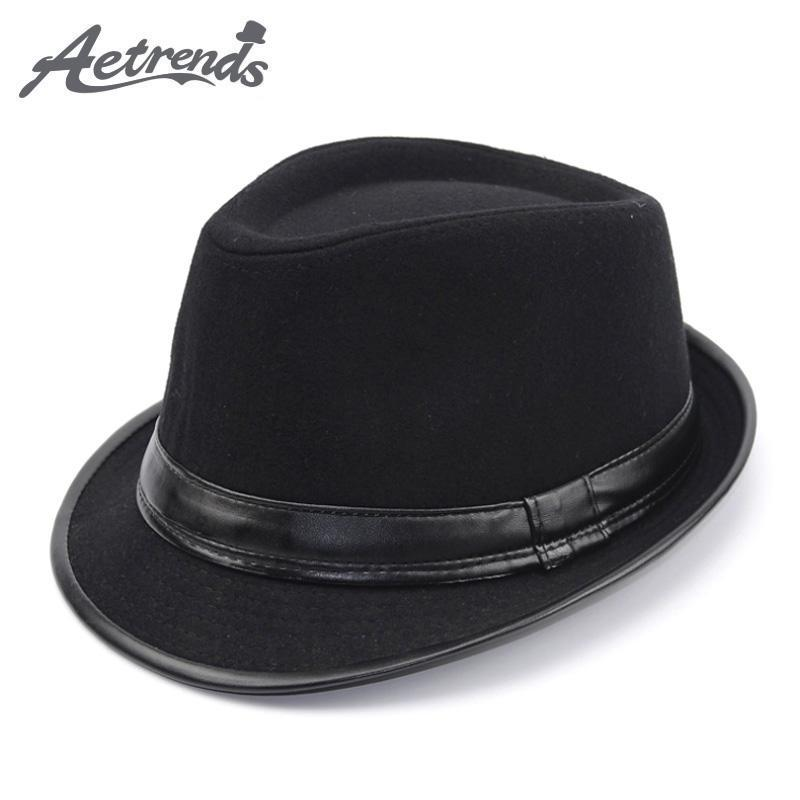 9fa629534a7 Save  13.70.  AETRENDS  2017 England Style Fedora Jazz Hat Men ...