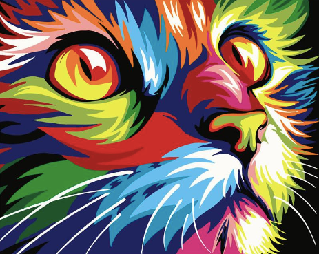 Neon Katze - Diamond Painting