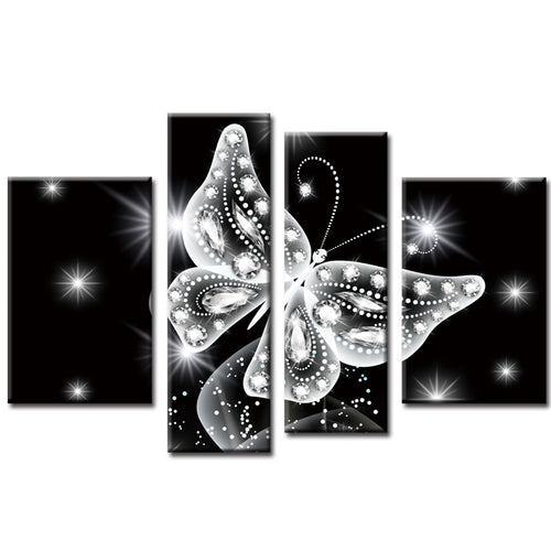 Funkelnder Schmetterling - Diamond Painting (80x45cm)