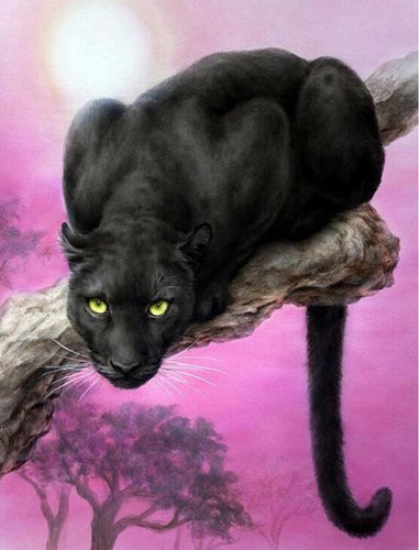 Der schwarze Panther - Diamond Painting (20x30cm)