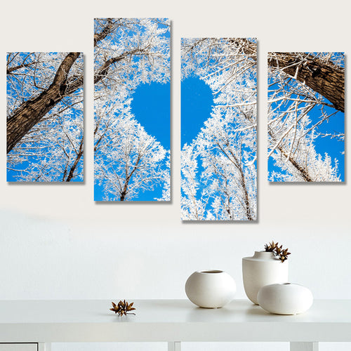 kalter Wintermorgen Diamond - Painting (45x83cm)