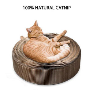 Cat scratcher lounge bed collapsable