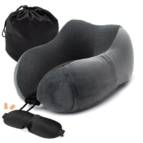 Travel Pillows - Memory Foam Travel Pillow (Free Eye Mask)