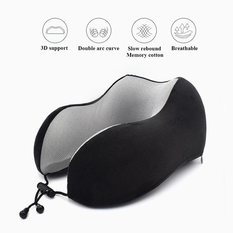Image of Travel Pillows - Memory Foam Travel Pillow (Free Eye Mask)