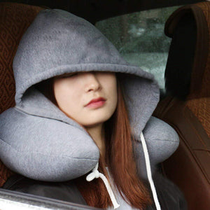 Hoody memory foam travel pillow
