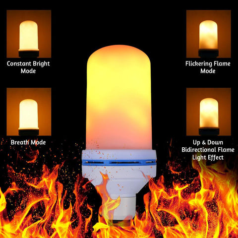 LED Flame Effect  Rechargeable Battery Light Bulb