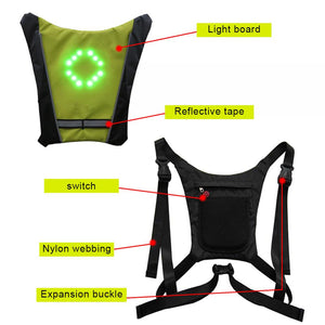 Wireless LED Cycling Vest