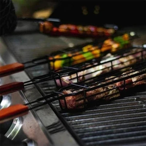 Image of Portable Kabob Grilling Baskets
