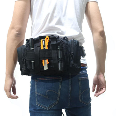 Image of Hunting Bags - Tactical Heavy Duty Waist Pack With Shoulder Strap