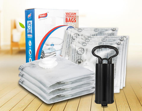 Image of Vacuum storage clothes bags with pump