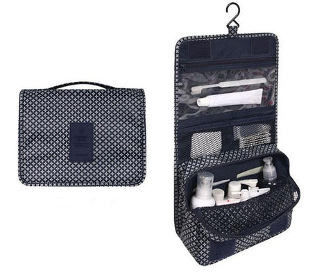 Multi-function travel makeup and cosmetic bathroom storage organizer