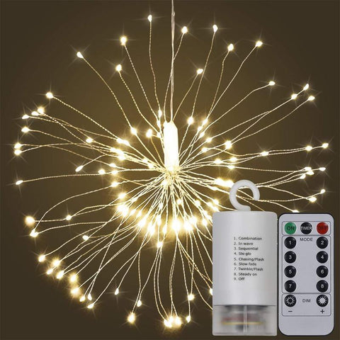 Image of Flexible Starburst LED Lights Battery Fairy Lights