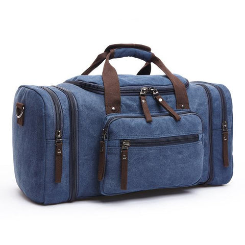Image of Travel Bags - Canvas Multi-functional Duffle Bag