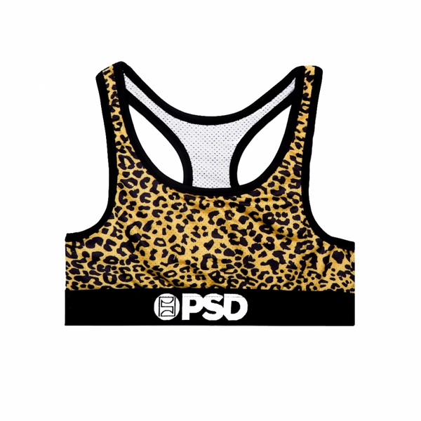 Cheetah Yellow – Sports Bra