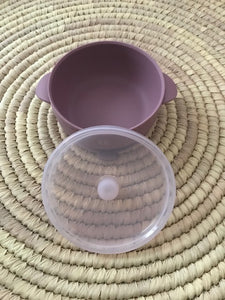 Silicone Suction Bowl - MAUVE