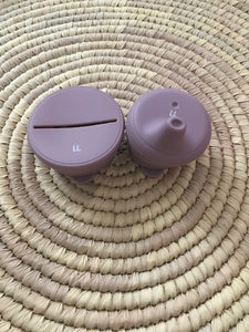 Silicone Cup and Snack Set - MAUVE