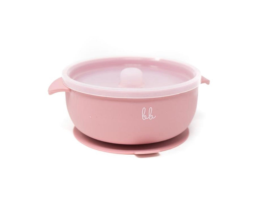 Silicone Suction Bowl - Dusty Rose