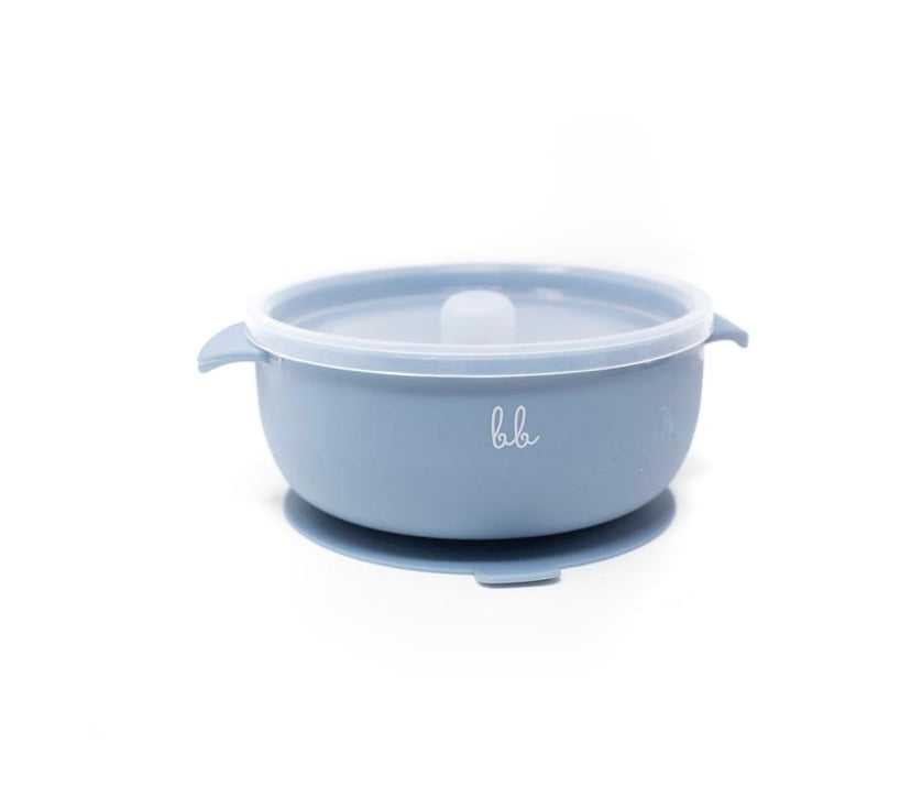 Silicone Suction Bowl - Slate