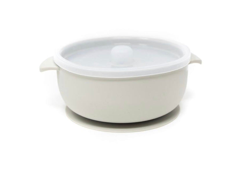 Silicone Suction Bowl - Taupe