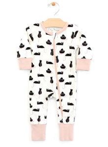 Cats Zipper Romper