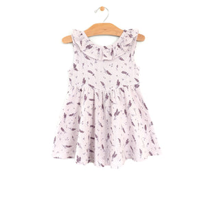 Muslin Flutter V Back Dress