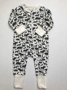 Animals Zipper Romper