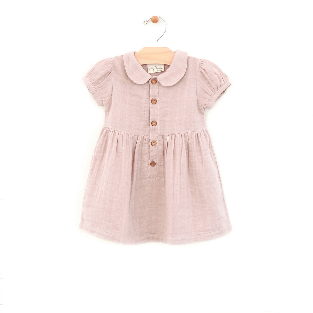 Short Sleeve Button Dress