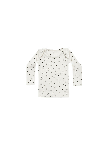 Ribbed Longsleeve Dot Tee