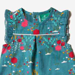 Wild Flower Meadow Frill Romper