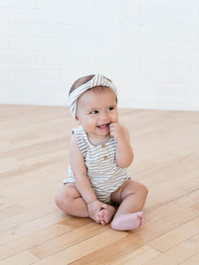 Striped Sleeveless Bubble Romper