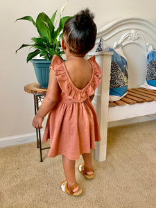Flutter V Back Dress