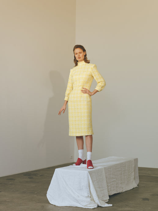 Collar Dress - yellow