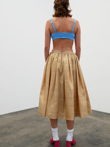 Flared Skirt - gold