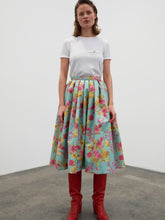 Load image into Gallery viewer, Flared Skirt - flowers