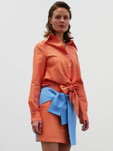 Load image into Gallery viewer, Tie Skirt - orange/blue