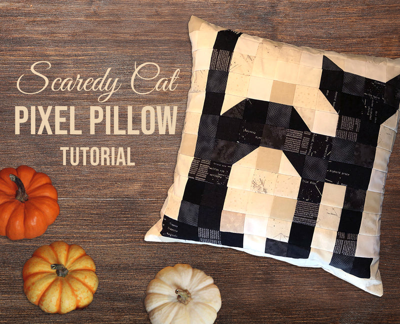 Scaredy Cat Pixel Pillow
