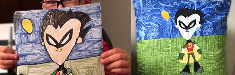 Turn a Child's Drawing into Appliqué
