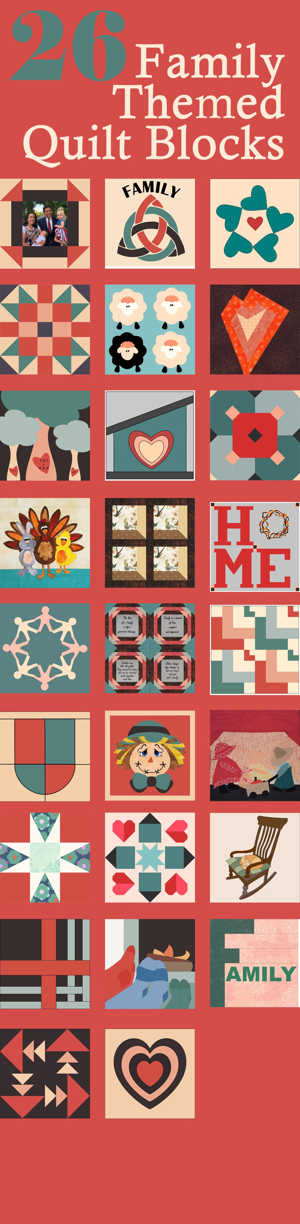 26 Free quilt block patterns