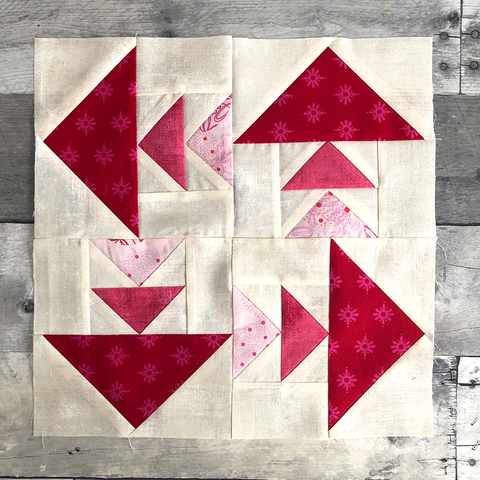 Free Flying Geese Family Quilt Block Pattern