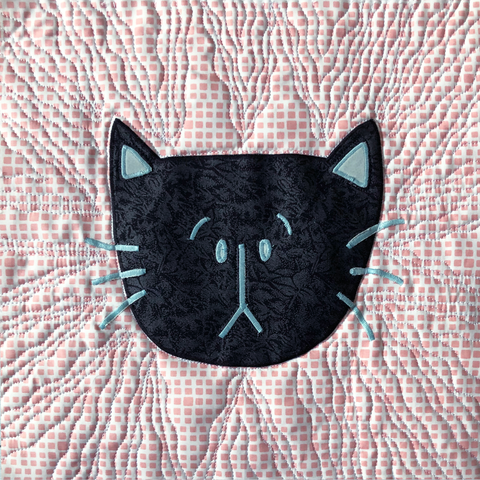 Scaredy Kitty Free Quilt Block Pattern