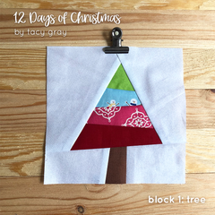 Christmas BOM block of the month pattern