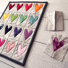 Work of Heart mini quilt pattern