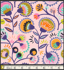 Oh, Meow! fabric by Jessica Swift: Kattaland Floral