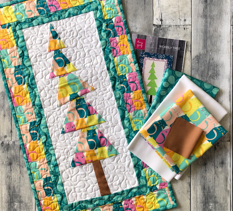 Oh, Meow! Wobbly Tree Wall Hanging Quilt Kit